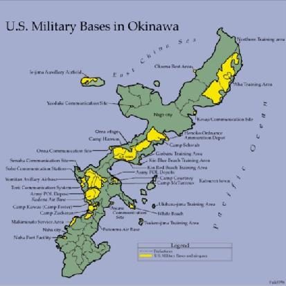 U.S. Military Bases in Okinawa, Japan (Mercenary or Defense)